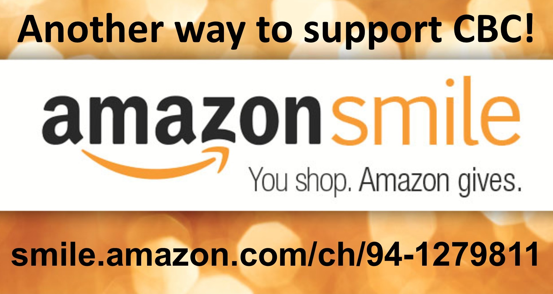 Support CBC through Amazon Smile!